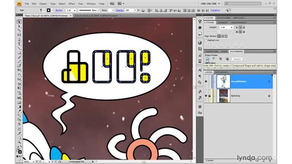 Strokes bad, fills good: Illustrator CS4 One-on-One: Advanced
