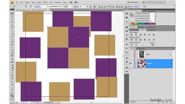 Aligning a group to the artboard: Illustrator CS4 One-on-One: Advanced