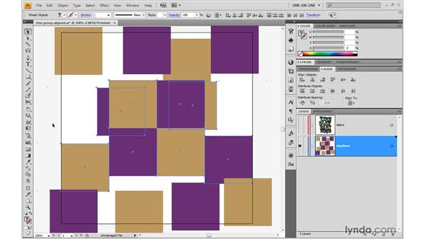 Distributing objects on the artboard: Illustrator CS4 One-on-One: Advanced