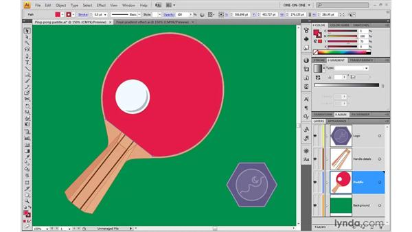 Dragging and dropping color swatches: Illustrator CS4 One-on-One: Advanced