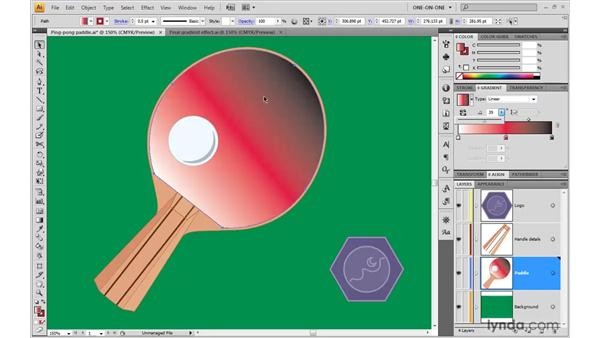 Using the Gradient palette: Illustrator CS4 One-on-One: Advanced