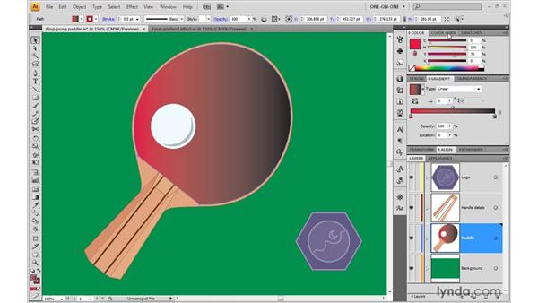 Designing a shaded gradient: Illustrator CS4 One-on-One: Advanced