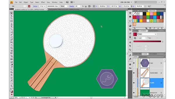 Saving a gradient swatch and adding a texture: Illustrator CS4 One-on-One: Advanced
