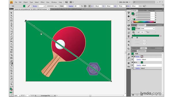 Editing color stops inside a shape: Illustrator CS4 One-on-One: Advanced