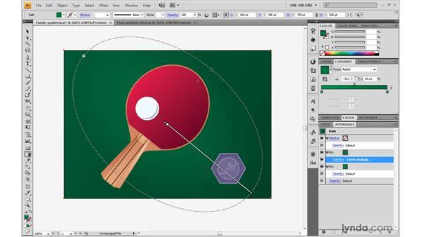 Adding and adjusting radial gradients: Illustrator CS4 One-on-One: Advanced