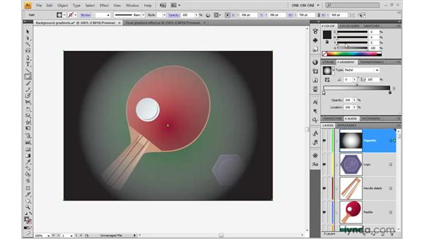 Making a transparent gradient: Illustrator CS4 One-on-One: Advanced