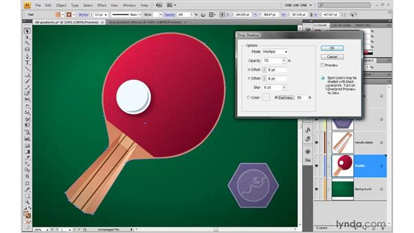 Adding drop shadows (a kind of gradient): Illustrator CS4 One-on-One: Advanced
