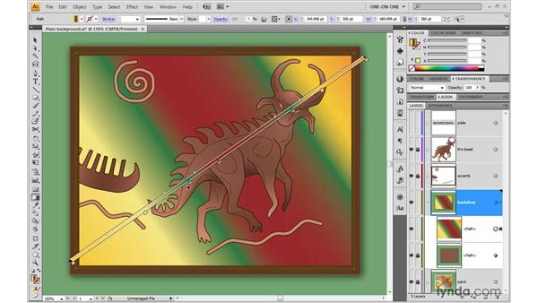 Expanding a gradient to a gradient mesh: Illustrator CS4 One-on-One: Advanced