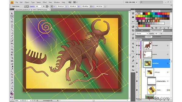 Selecting and coloring points: Illustrator CS4 One-on-One: Advanced