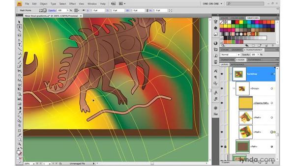 Applying precise finishing touches: Illustrator CS4 One-on-One: Advanced