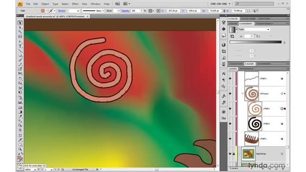 Gradient strokes: Illustrator CS4 One-on-One: Advanced