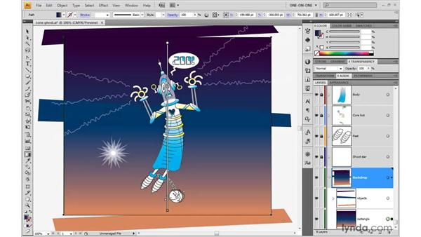 Making a blend automatically: Illustrator CS4 One-on-One: Advanced