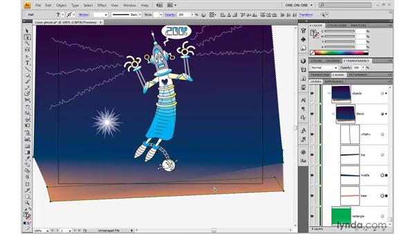 Fixing problem blends: Illustrator CS4 One-on-One: Advanced