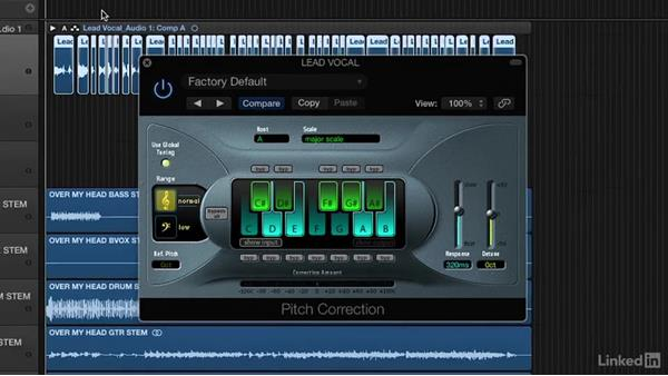 Tuning vocals: Vocal Production Techniques: Editing and Mixing in Logic Pro