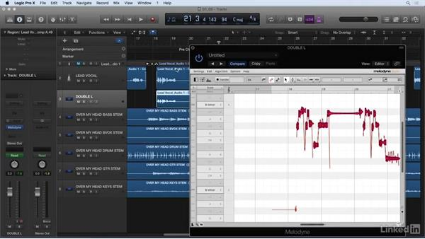 Creating harmonies with Melodyne: Vocal Production Techniques: Editing and Mixing in Logic Pro