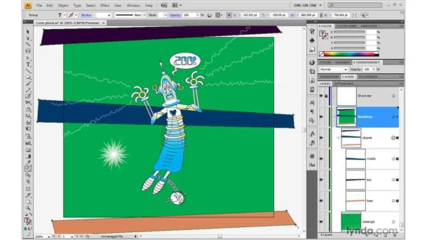 Making a blend with the Blend tool: Illustrator CS4 One-on-One: Advanced