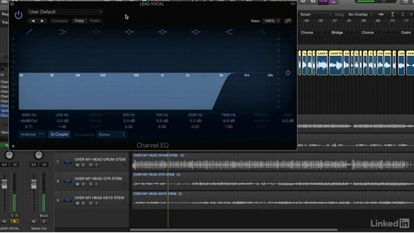 Processing vocals with EQ: Vocal Production Techniques: Editing and Mixing in Logic Pro