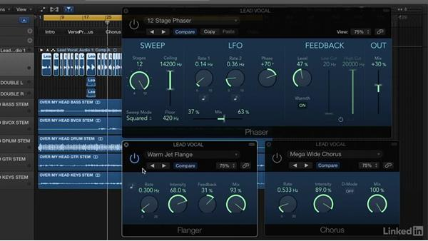 Using modulation effects to enhance vocals: Vocal Production Techniques: Editing and Mixing in Logic Pro