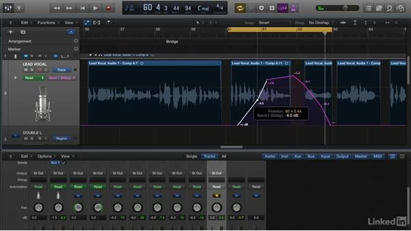 Automating FX: Vocal Production Techniques: Editing and Mixing in Logic Pro