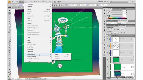 Creating a mask: Illustrator CS4 One-on-One: Advanced