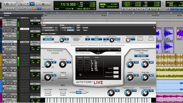 using antares auto-tune nondestructively