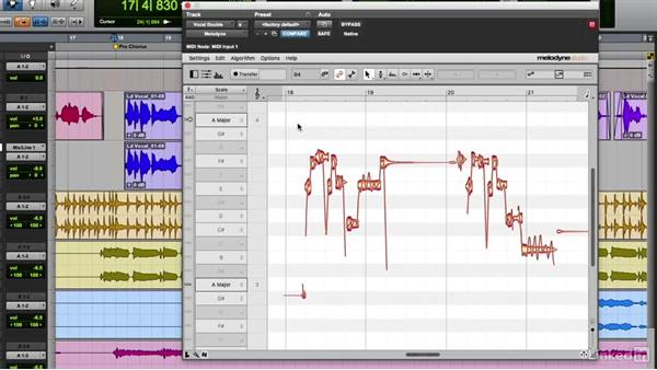 Creating harmonies with Melodyne: Vocal Production Techniques: Editing and Mixing in Pro Tools