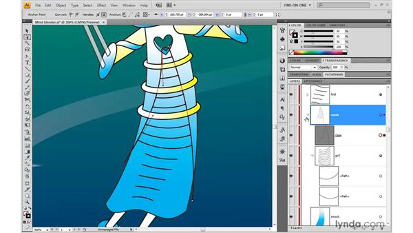 Nesting one clipping mask inside another: Illustrator CS4 One-on-One: Advanced