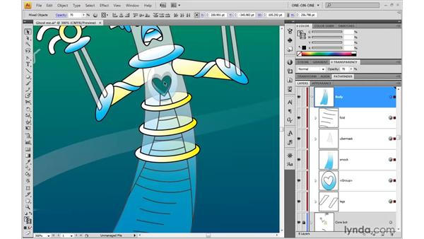 Ghosting nested masks and blends: Illustrator CS4 One-on-One: Advanced