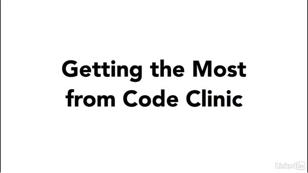 Getting the most out of Code Clinic: Code Clinic: Clojure