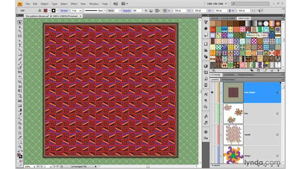 Introducing tile patterns: Illustrator CS4 One-on-One: Advanced