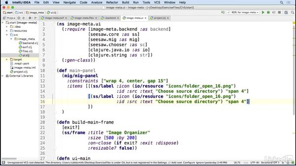 User interface: Create components: Code Clinic: Clojure