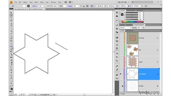 Building an interlocking element: Illustrator CS4 One-on-One: Advanced
