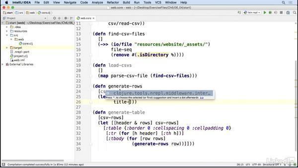 Generating HTML: Code Clinic: Clojure