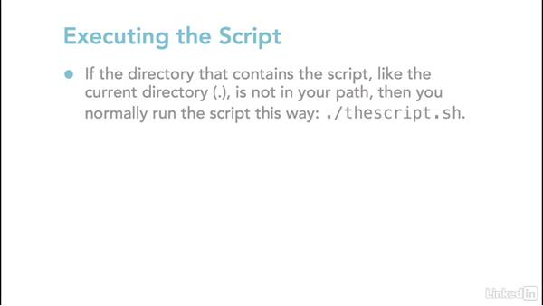 Setting the script interpreter and permissions: Linux: Bash Shell and Scripts