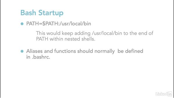 Bash startup: Linux: Bash Shell and Scripts