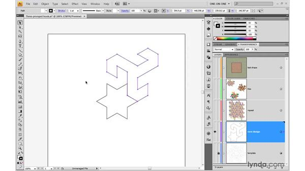 Rotating duplicates around a common center: Illustrator CS4 One-on-One: Advanced