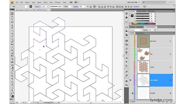Determining how a pattern repeats: Illustrator CS4 One-on-One: Advanced