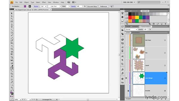 Coloring the core objects: Illustrator CS4 One-on-One: Advanced