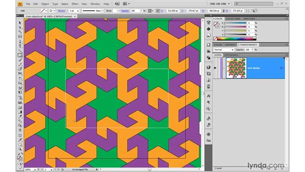 Identifying the rectangular tile: Illustrator CS4 One-on-One: Advanced