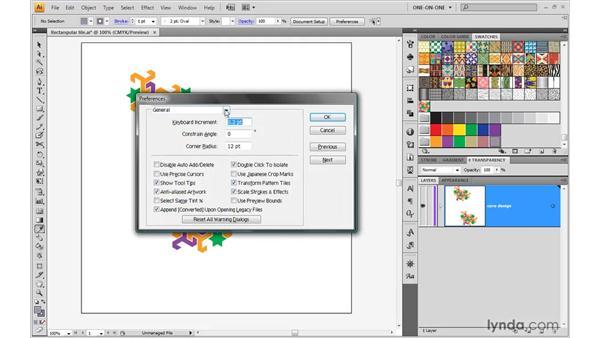 Saving tile patterns: Illustrator CS4 One-on-One: Advanced