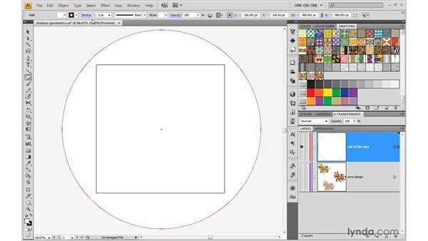 Applying tile patterns to a shape: Illustrator CS4 One-on-One: Advanced