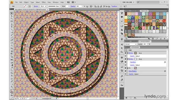 Protecting patterns from transformations: Illustrator CS4 One-on-One: Advanced