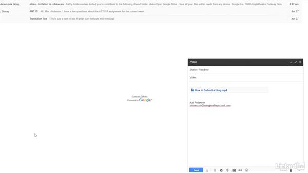 Send large attachments: Google Apps 2016 for Education Essential Training