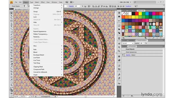 Moving patterns without paths: Illustrator CS4 One-on-One: Advanced