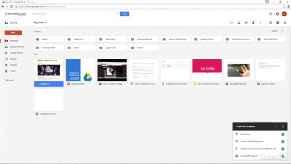 Upload to Google Drive: Google Apps 2016 for Education Essential Training