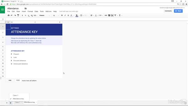 Google Sheets templates: Google Apps 2016 for Education Essential Training