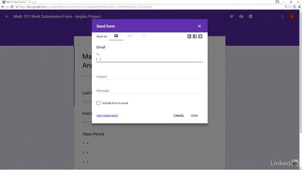 Share Google Forms: Google Apps 2016 for Education Essential Training