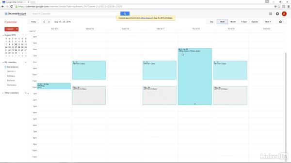 Appointment slots: Google Apps 2016 for Education Essential Training
