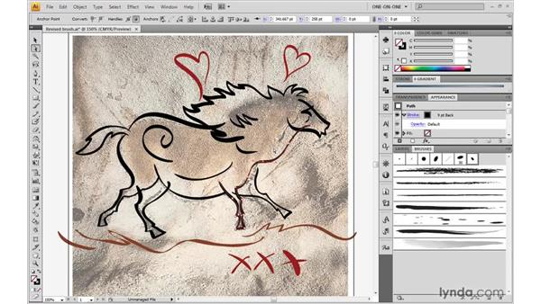 Repainting and smoothing paths: Illustrator CS4 One-on-One: Advanced