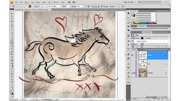 Erasing stroked paths: Illustrator CS4 One-on-One: Advanced